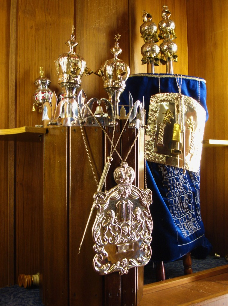 Torah scrolls, Reform Synagogue, Newcastle-upon-Tyne